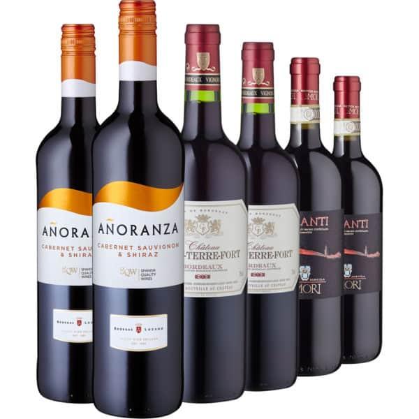 Europäische Rotweinklassiker, 6 Flaschen 2