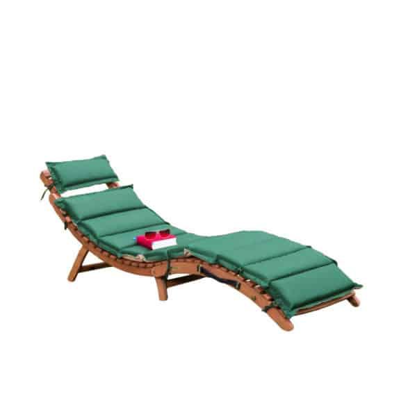 """Gartenliege """"Ipanema"""" mit Wendeauflage, grün/beige 2"""