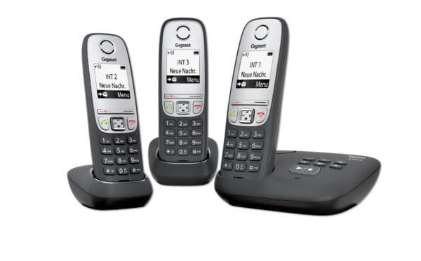 Schnurlos-Telefon A415A Trio mit AB und 2 zusätzlichen Mobilteilen