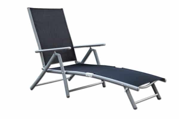 Deckchair/ Sonnenliege, schwarz 2