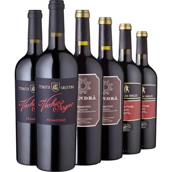 Rotwein-Set Primitivo, 6 Flaschen 2