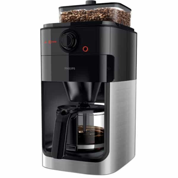 """Kaffeemaschine """"Grind and Brew HD7767/00"""", edelstahl/schwarz 2"""
