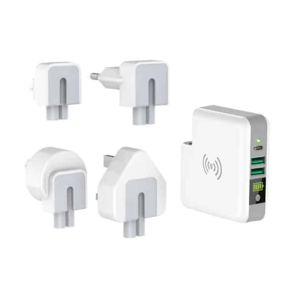 Powerbank mit wireless Ladefunktion inkl. Reiseadapter 2