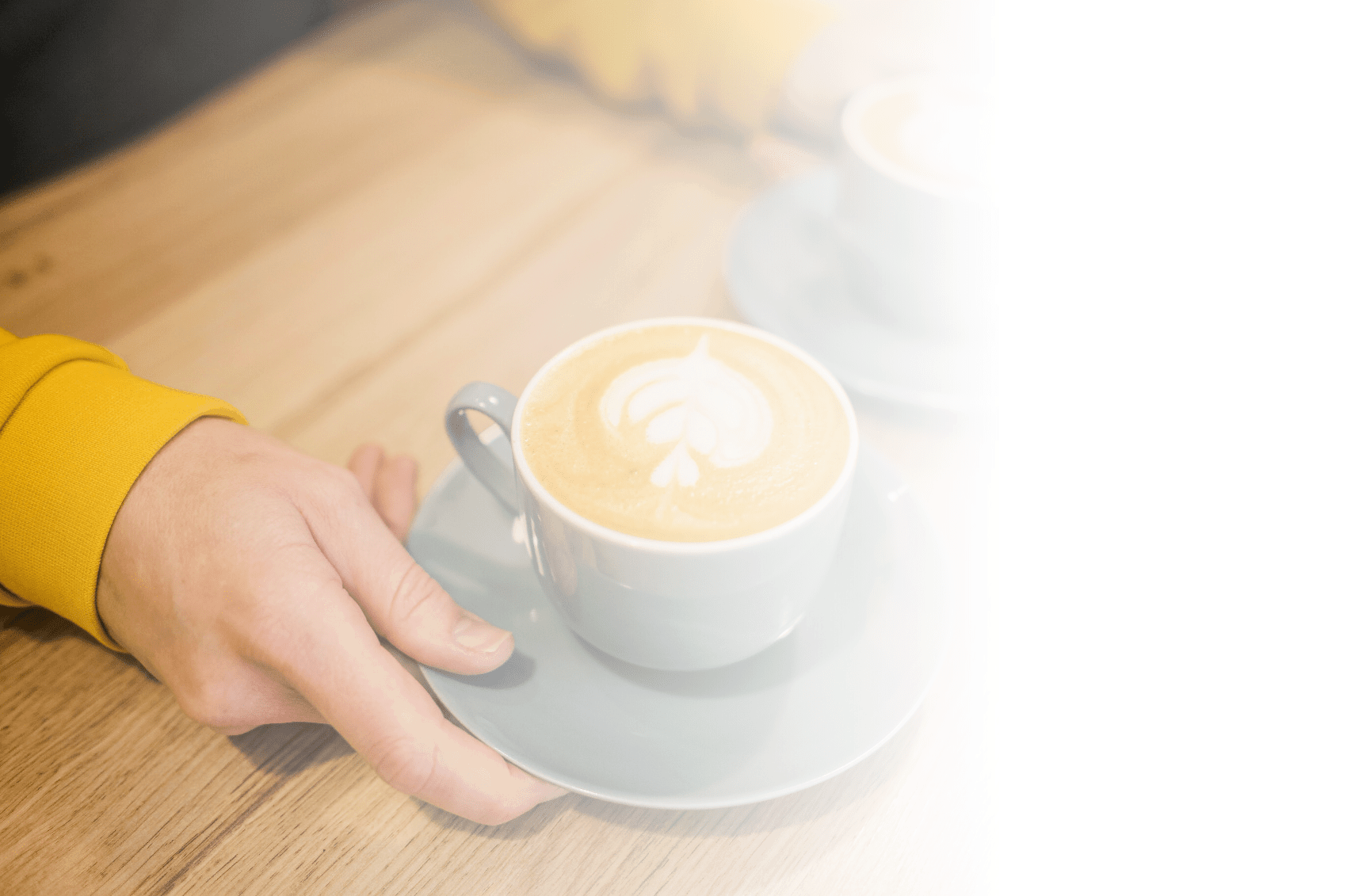 Das Bild zeigt eine Kaffee Tasse und symbolisiert Kaffee und Tee Flatrates für Mitarbeiter